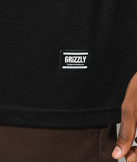 Grizzly x Marvel Hulk Black T-Shirt