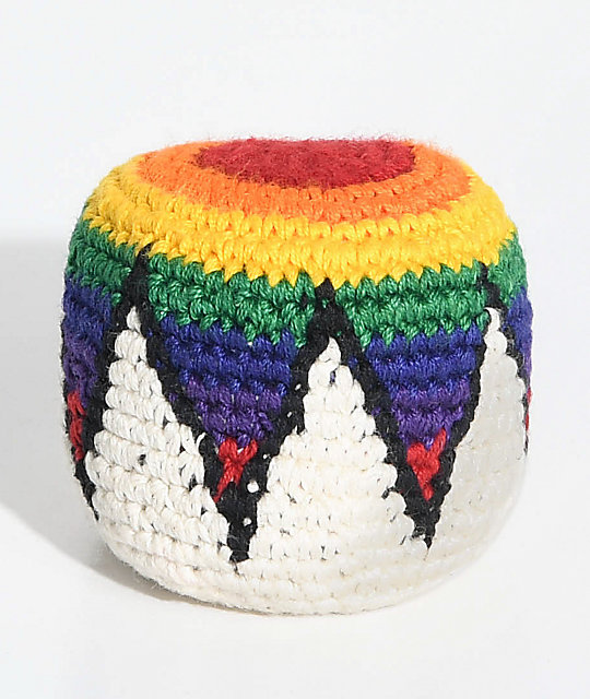 Guatemalart Hot N Cold Zig-Zag  hacky sack multicolor