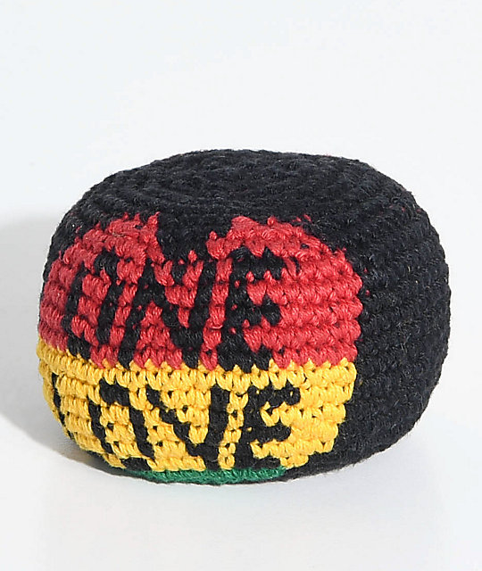 Guatemalart One Love Black Yellow Red Green Hacky Sack Zumiez
