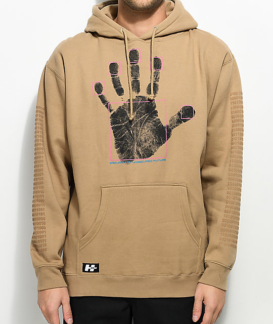 H33M Cyber Insecurities Sand Hoodie