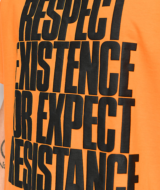 HSTRY Respect Orange T-Shirt