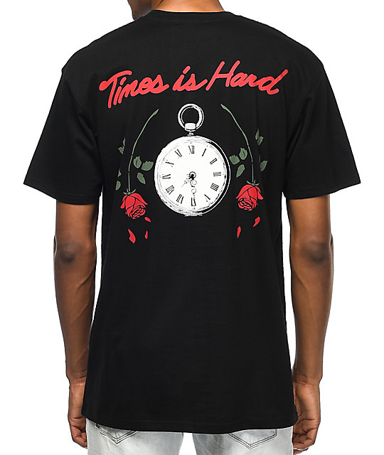 HSTRY Roses Black T-Shirt