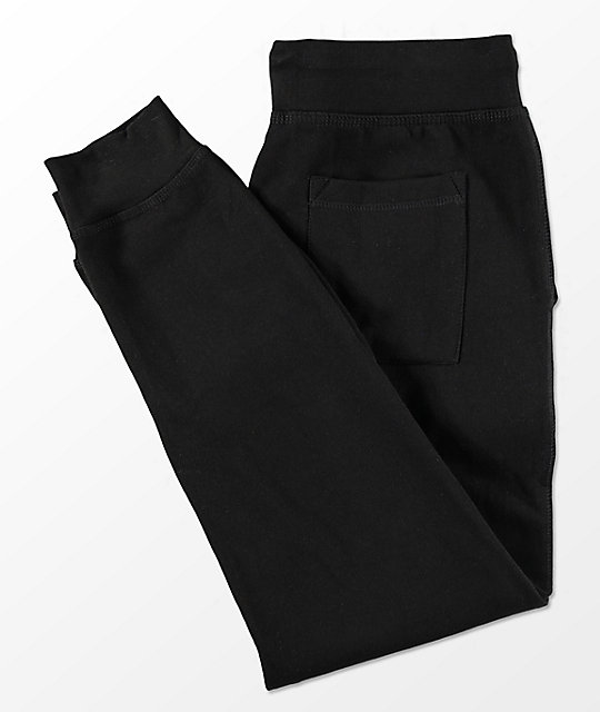 HSTRY Times Is Hard Black Jogger Sweatpants