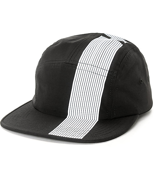 834f53e2823 HUF 10K Black Stripe Strapback Volleyball Hat