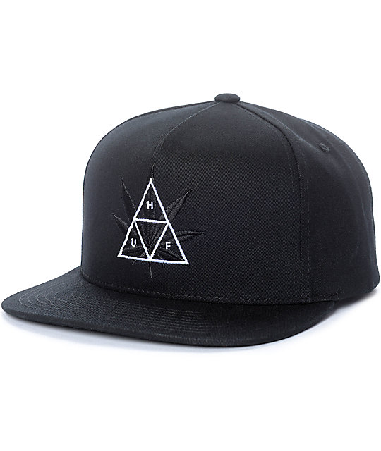 a953116deb40f ... usa huf 420 triple triangle black snapback hat ef24e 8572c