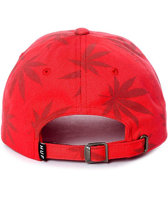 HUF 420 Triple Triangle Red Strapback Hat