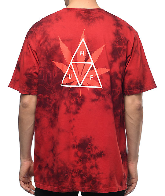 HUF 420 Triple Triangle Red T-Shirt ...