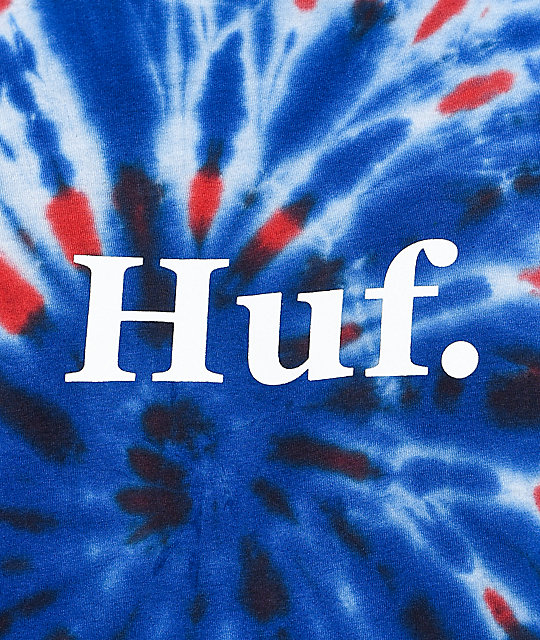 HUF 4th Of July Red, White & Blue Tie Dye T-Shirt