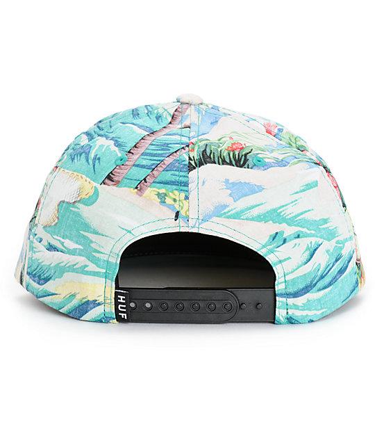 brand new 3895e 7fdca HUF Aloha Snapback Hat  HUF Aloha Snapback Hat