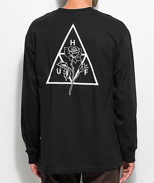 HUF Ambush Triple Triangle Black Long Sleeve T-Shirt ...