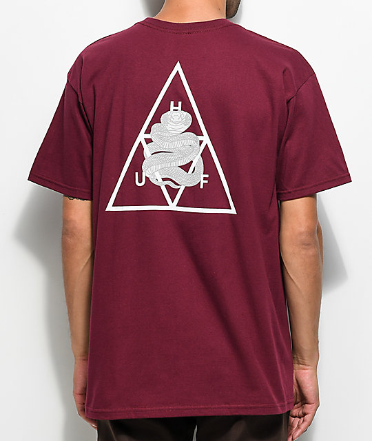 HUF Ambush Triple Triangle Maroon T-Shirt