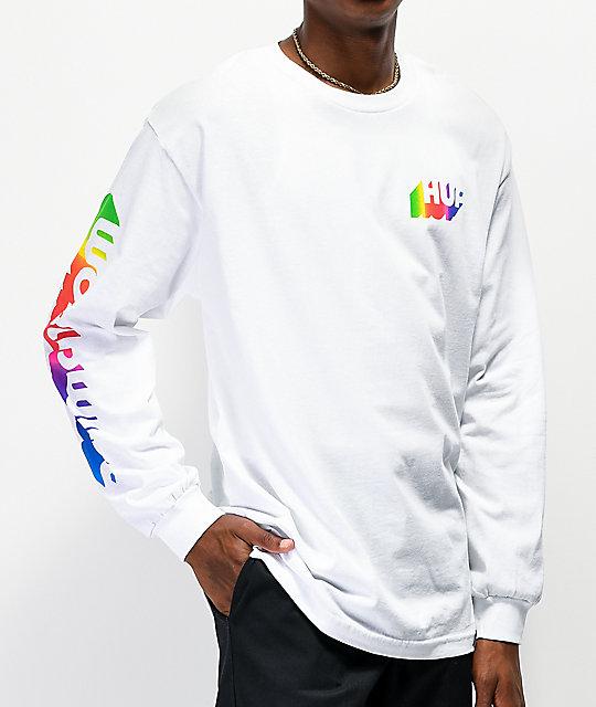 White HUF Aura Long Sleeve T-Shirt
