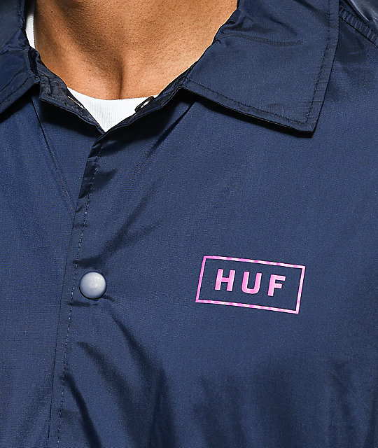 HUF Bar Logo Navy Coaches Jacket