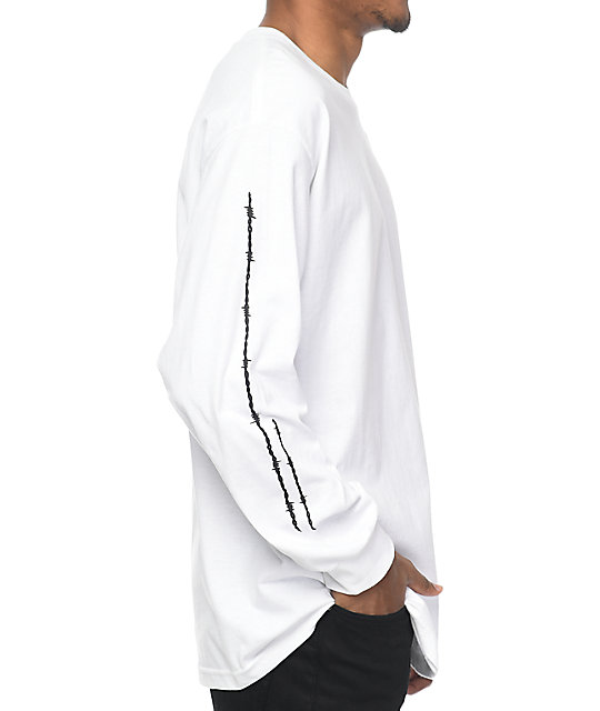 HUF Barb White Long Sleeve T-Shirt