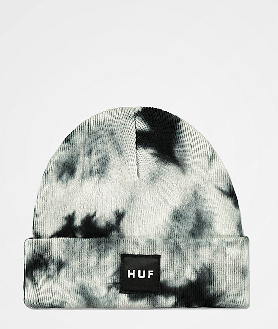 db5c925875a HUF Box Logo Frost Blue Washed Beanie
