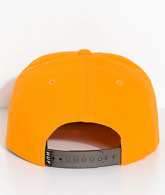 ... HUF Box Logo Gold Snapback Hat eb9b2865116a
