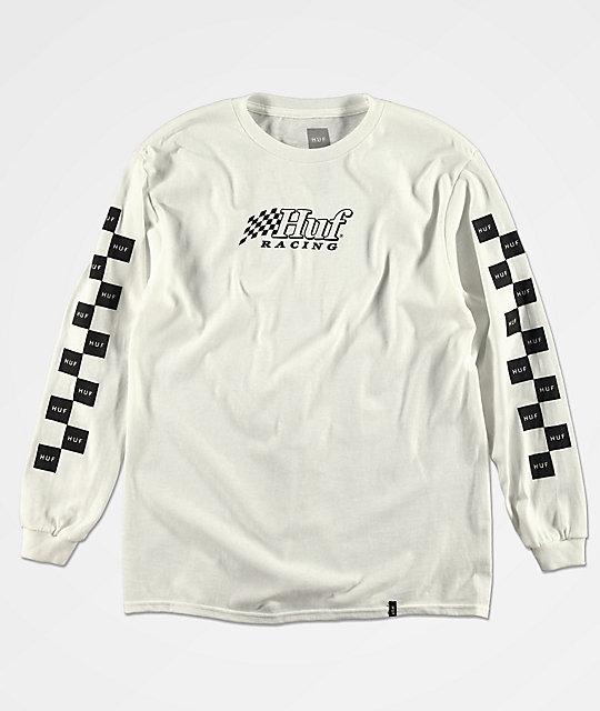 e8c7b79a4e4 HUF Boys Racing White Long Sleeve T-Shirt