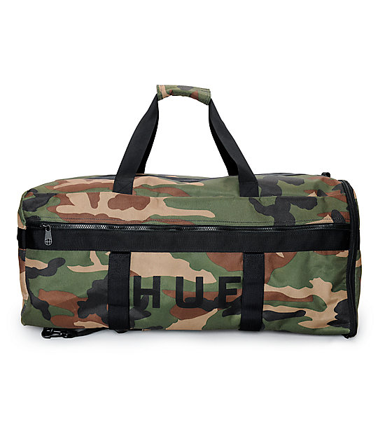 90057bc9f6bb7 HUF Camo Travel Duffle Bag