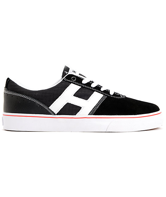 HUF Choice Black & White Suede Skate Shoes