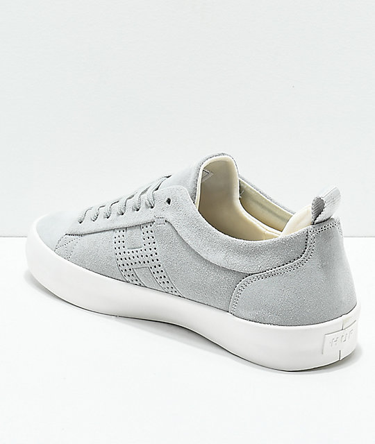 HUF Clive Cool Grey & White Skate Shoes