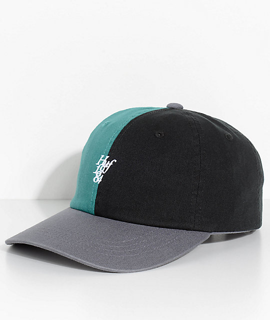 HUF Country Club Black & Green Strapback Hat