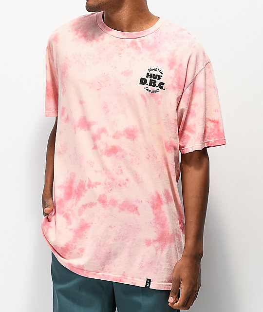 HUF DBC Cotton Candy camiseta tie dye rosa