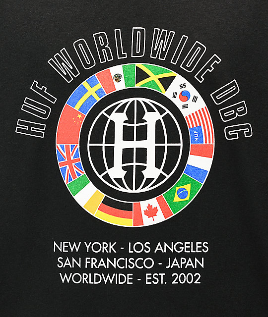 HUF DBC Worldwide camiseta negra