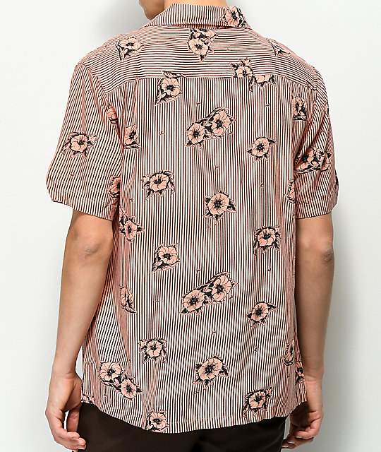 HUF Delsur Coral Short Sleeve Button Up Shirt