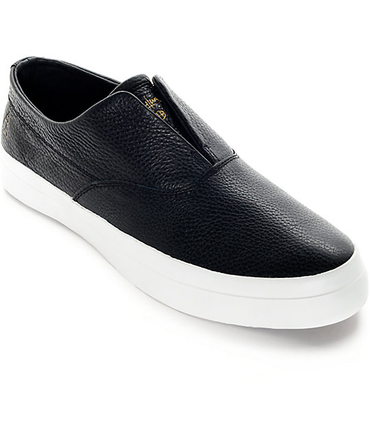 On Shoes Black Dylan Huf Skate Leather Zumiez Slip YPn5qISWqv