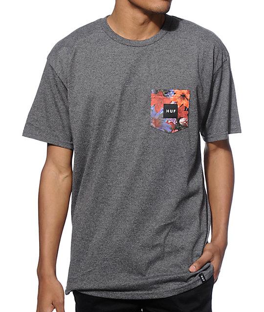 b50c4221770d9f HUF Floral Pocket T-Shirt