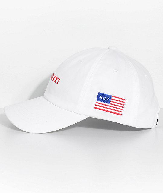 a8ba1f1003ff3 ... get huf fuck it white strapback hat 095a9 b3d7f