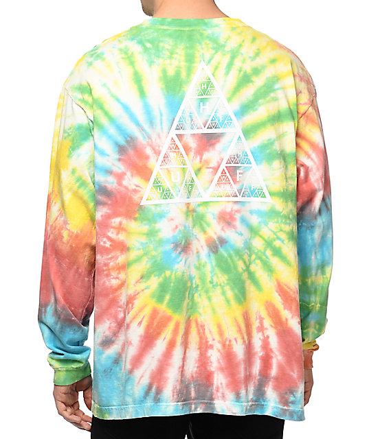 HUF Fun Rainbow Tie Dye Long Sleeve T-Shirt  6c2ad7b54