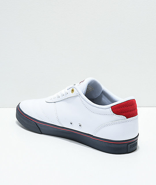 HUF Galaxy World Cup White, Navy & Red Skate Shoes