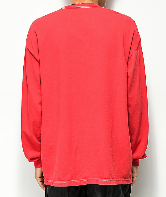 HUF Global Domination Red Long Sleeve T-Shirt