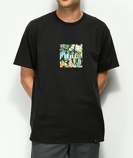 HUF Havana Domestic Box Logo Black T-Shirt