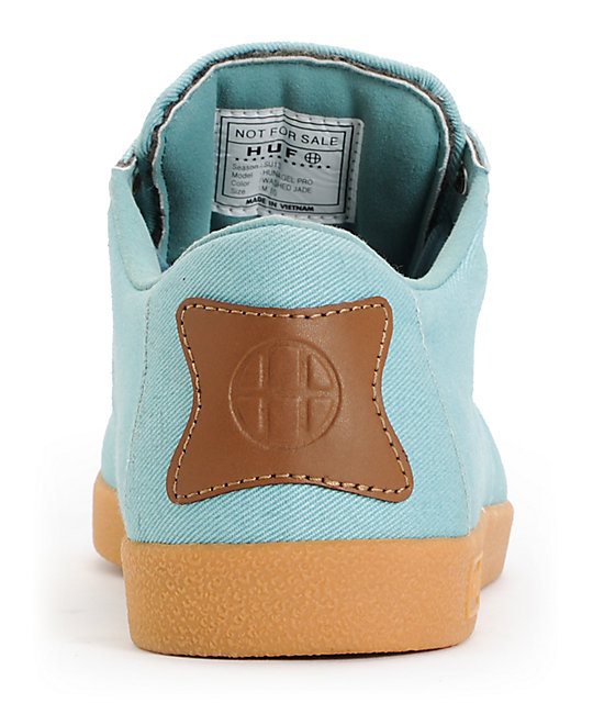 HUF Hufnagel Pro Washed Jade Canvas Skate Shoes