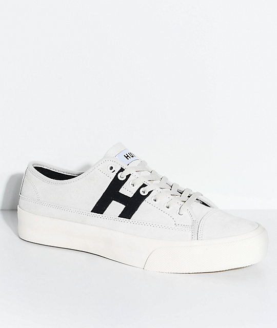 b1de45fac92 HUF Hupper 2 Lo Cream   Black Skate Shoes