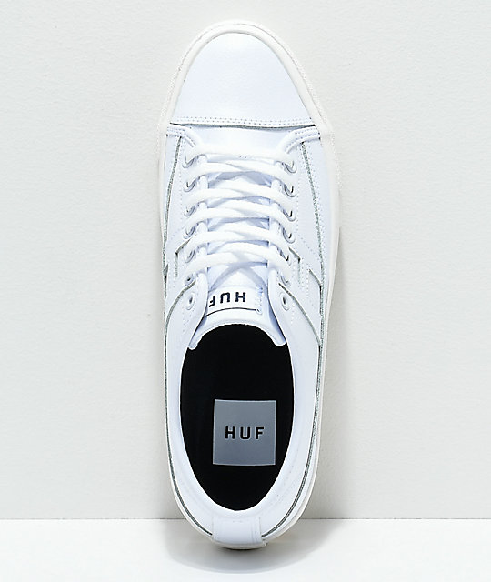 HUF Hupper 2 Lo White Leather Skate Shoes