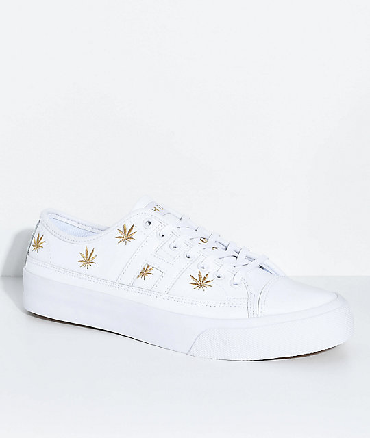 HUF Hupper 2 Plantlife Premium White Skate Shoes