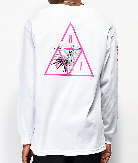 HUF Jungle Triple Triangle White Long Sleeve T-Shirt