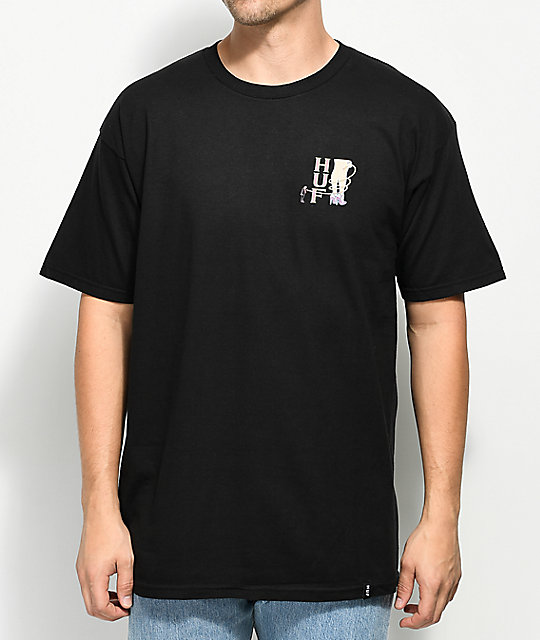 HUF Leash Black T-Shirt