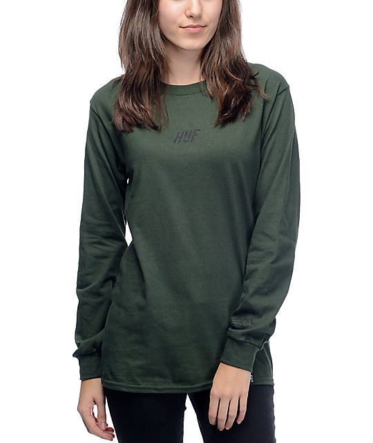 HUF Loving Touch Army Green Long Sleeve T-Shirt