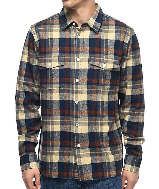Wholesale HUF Miller Navy Flannel Shirt hot sale