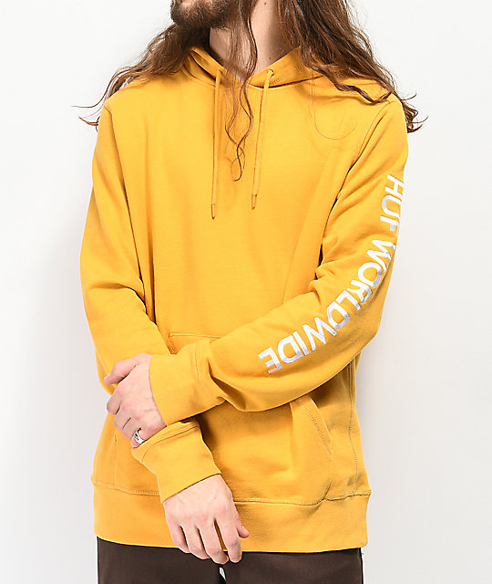 HUF Mission Yellow Hoodie