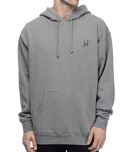 a97a3f91 HUF Muted Military Classic H Grey Hoodie | Zumiez