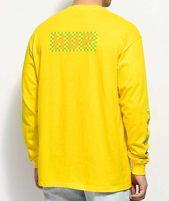 HUF Nothing Possible Yellow Long Sleeve T-Shirt