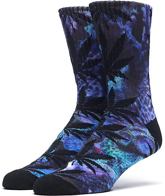 HUF Outdoors Digi Plantlife Coral Crew Socks