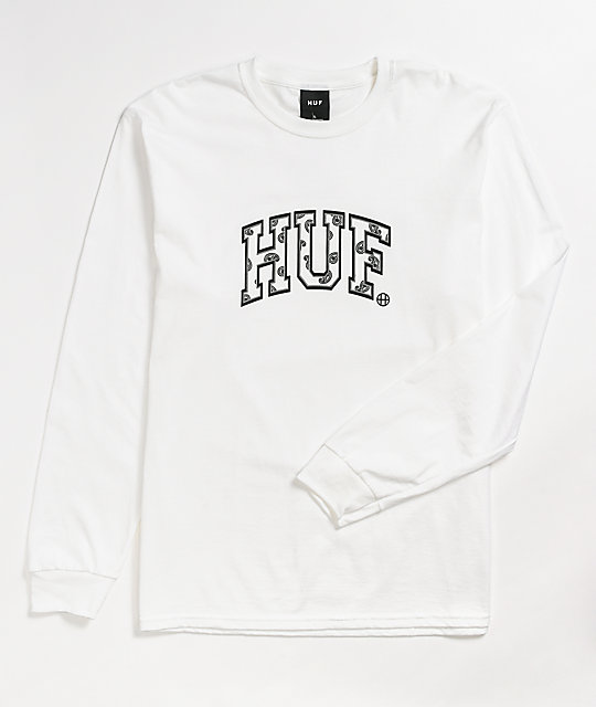HUF Paisley Arch White Long Sleeve T-Shirt