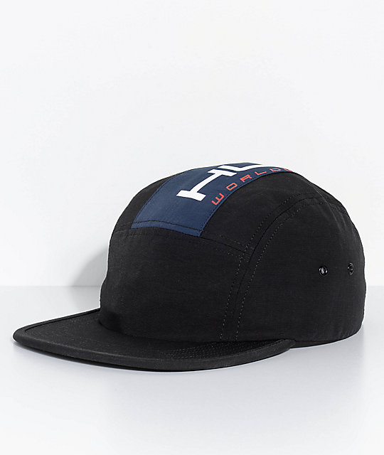 HUF Palisades Black 5 Panel Hat  650af52dd01