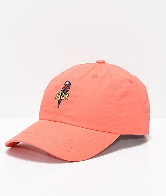 240cdb0cca5 HUF Parrot Coral Strapback Hat